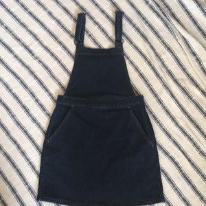 Denim pinafore  overalls Skirt jumper